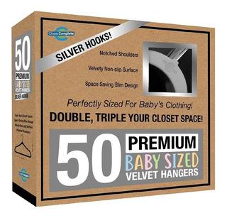 50 Perchas Terciopelo Tamaño Baby