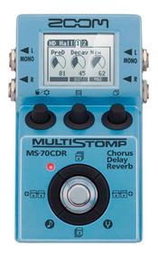 Pedal Zoom Ms-70cdr Multistomp Para Guitarra Com 137 Efeitos