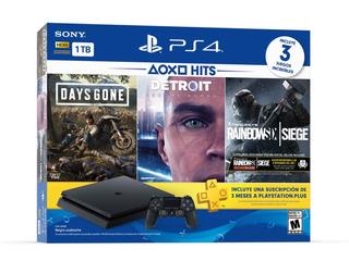 Playstation 4 Ps4 Slim 1tb 3 Juegos 1 Membresía Nuevo Tienda