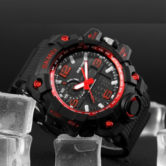 Relógio Masculino Militar Skmei1283 À Prova D