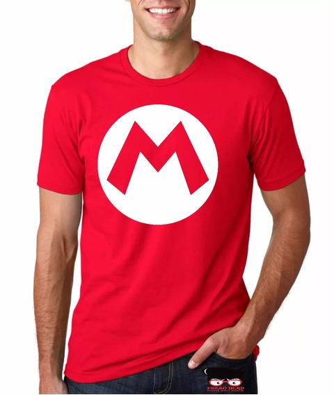 Camiseta Luigi Mário Bros Camisa Nintendo Blusa Mário Gamer