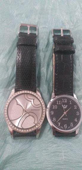 Relógio Mondaine + Esse Outro.obs Para Tirá Peça Ou Conserto