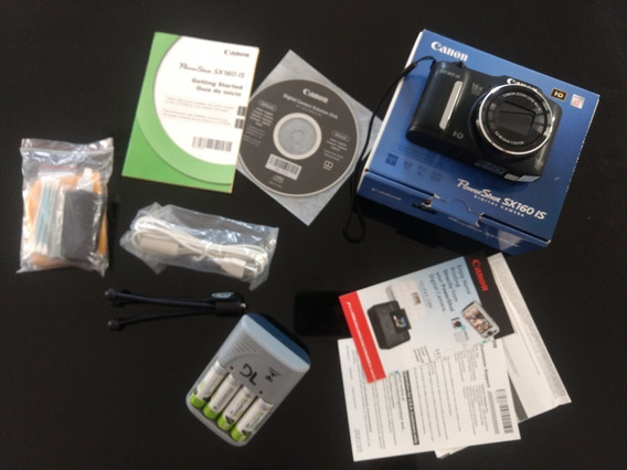 Câmera Digital Canon Powershot Sx160 Is Preta 16.0mp Intacta