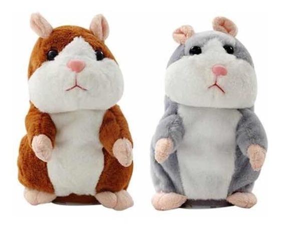 Kit 2 Hamster Falante - Pelúcia - Brinquedo Engraçado