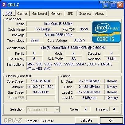 Processador I5-3230m