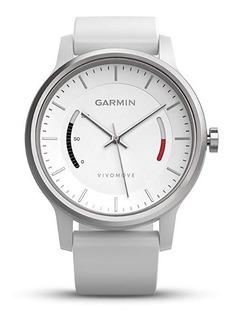 Reloj Garmin Vivomove Sport Blanco Con Banda Deportiva