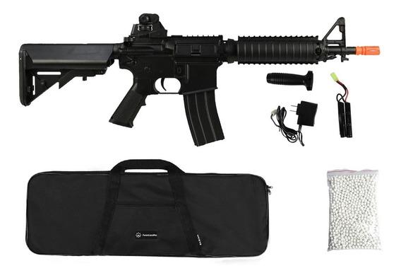 Rifle Airsoft Elétrico M4 Cqb Cm176 + Capa + Esfera 0.20g