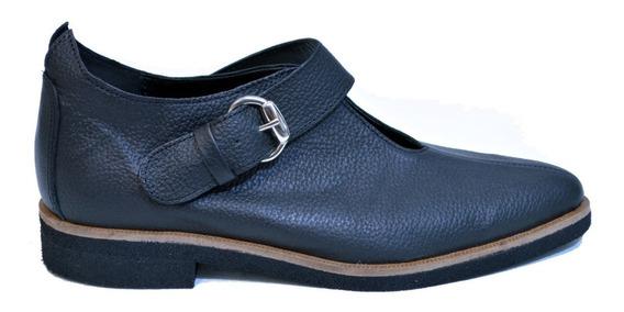 Bota Botita Zapato Mujer Caña Corta Cuero Vacuno Hebilla 22j