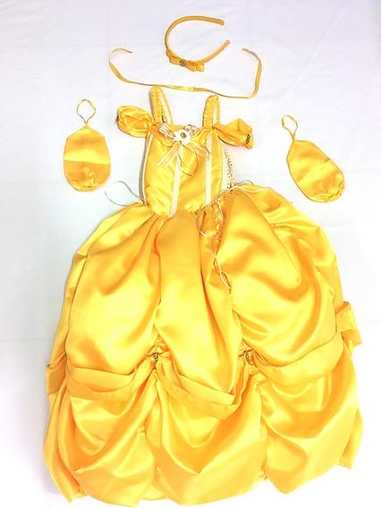 Disfraz Tipo Bella Disney Vestido Amarillo
