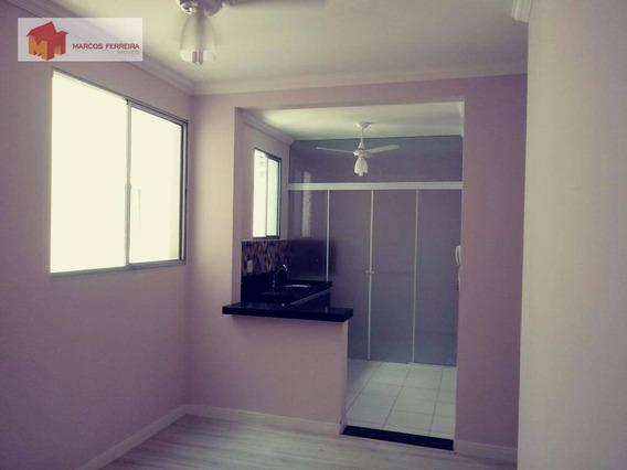 Apartamento Com 2 Dormitórios Para Alugar, 60 M² Por R$ 600,00/mês - Loteamento Industrial Machadinho - Americana/sp - Ap0143