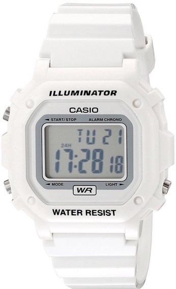 Relógio Casio F108whc-7bcf Branco Original - Promoçao