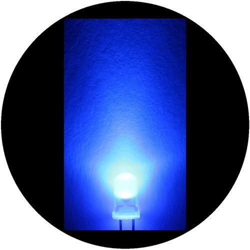 Imagen 1 de 6 de 25 Leds Ultrabrillantes De 5mm -- Azul Difuso