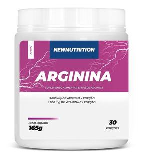 Arginina Pura Em Pó 165g (30 Porções) Newnutrition