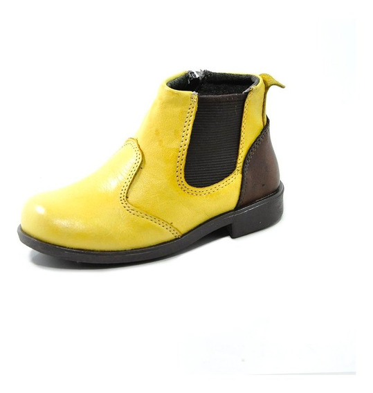 Botina Infantil Amarela 2882 Laroche