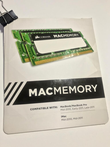 Memória Ram Mac Memory 16gb 2x8gb - Nunca Usada