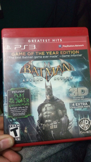 Batman Arkham Asylum Ps3 Fisico