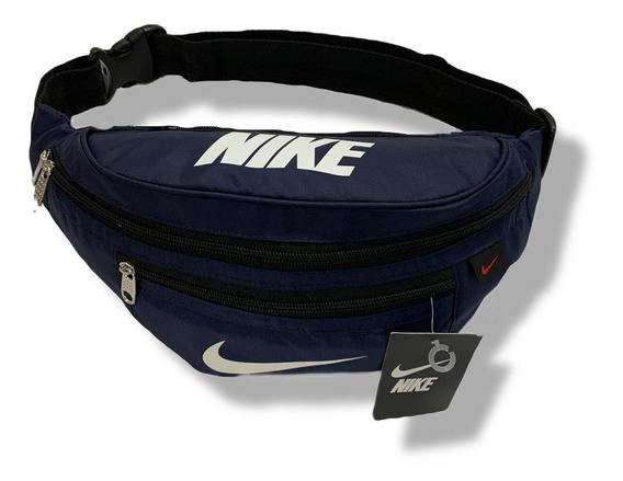 Cangurera Nike Deportiva Azul Marino Unisex