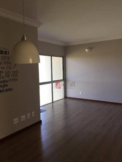 Apartamento Com 3 Dormitórios Para Alugar, 110 M² Por R$ 1.300/mês - Jardim Vivendas - São José Do Rio Preto/sp - Ap2097