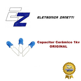 10 X Capacitor Cerâmico 1kv 103 10nf- Novo,c.r. R$ 10,00