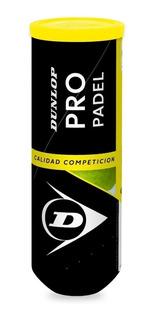 Tubo Pelotas Padel Dunlop Pro X3 Paddle Alta Duracion