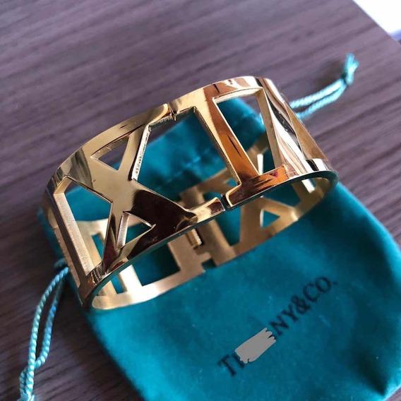 Bracelete Pulseira Tiff Atlas Algarismo Aço Inoxidável