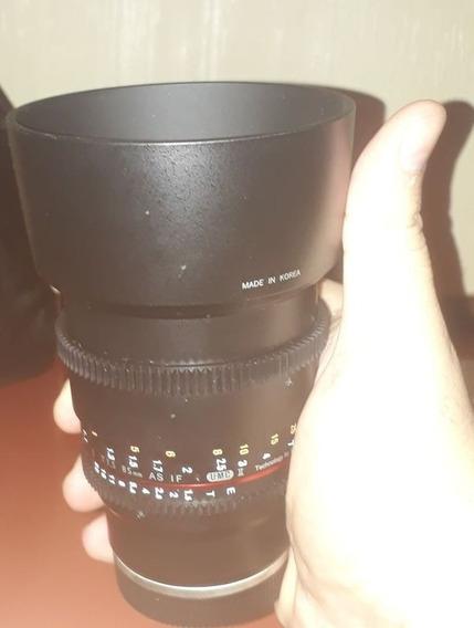 Lente Rokinon 85mm Cine Ds T1.5 Full Frame Sony Emout