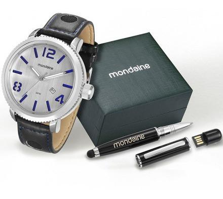 Kit Relógio Mondaine Caneta Pen Drive 94791g0mvnh1k1