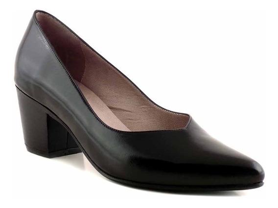 Zapato Mujer Cuero Vestir Briganti Taco Stiletto Mccz33027