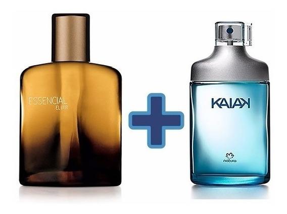 Kit Com 2 Perfumes Natura Essencial Elixir + Kaiak Clássico