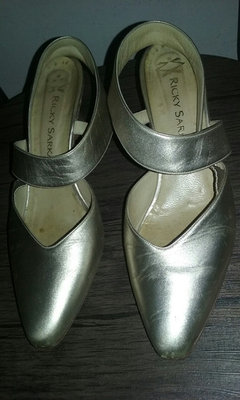Zapatos Cuero De Fiesta Ricky Sarkany 38 Oportunidad!