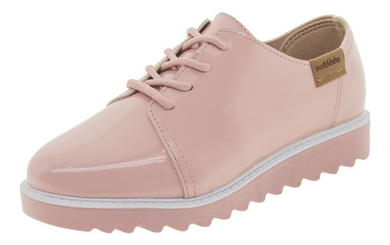 Sapato Infantil Feminino Oxford Rosa Molekinha - 2510111
