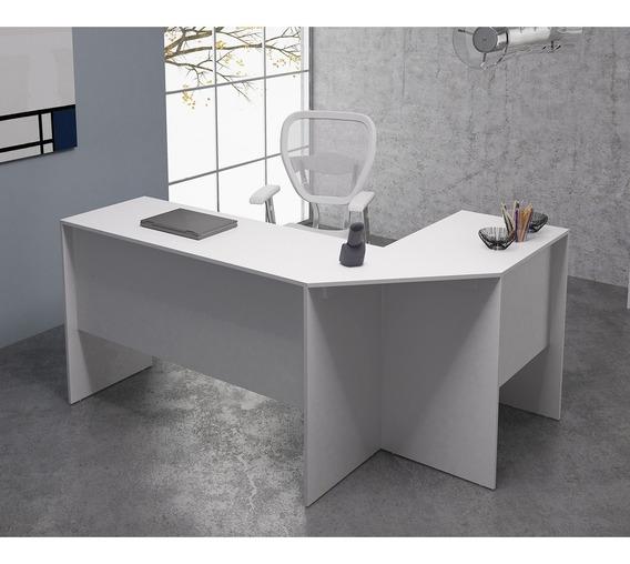 Mesa Para Computador/escritório Em L Bho 08 - Branco