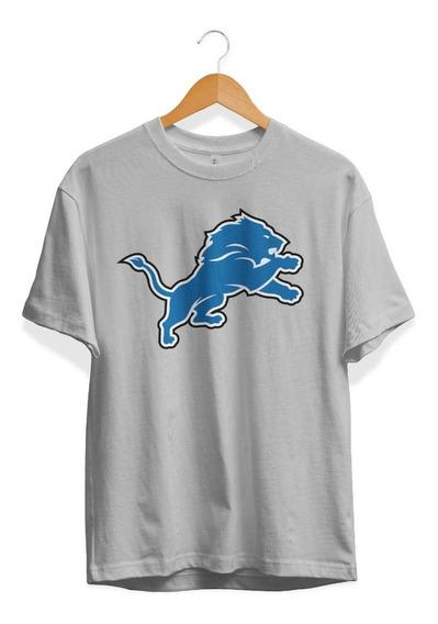 Remera Futbol Americano Nfl Detroit Lions Color Gris