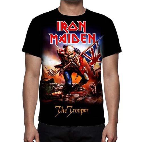 Camisa, Camiseta Iron Maiden The Trooper - Promoção