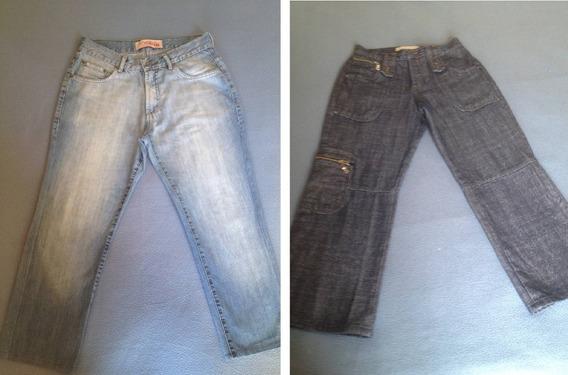 2 Calças Jeans Tng Mofficer - Tam.12anos