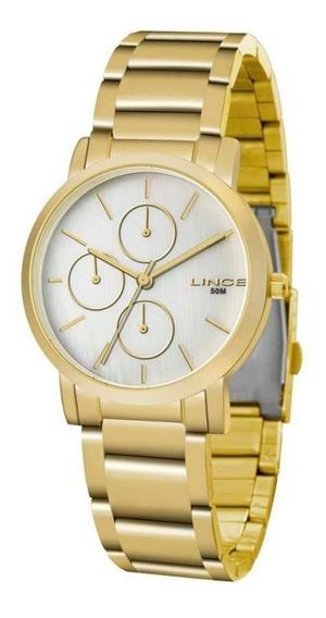 Relógio Lince Feminino E Masculino Lmg4568l B1kx Dourado