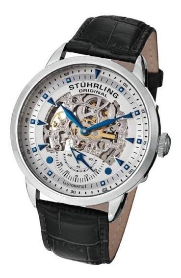 Relógio Masculino Automático Pulseira Couro Importado