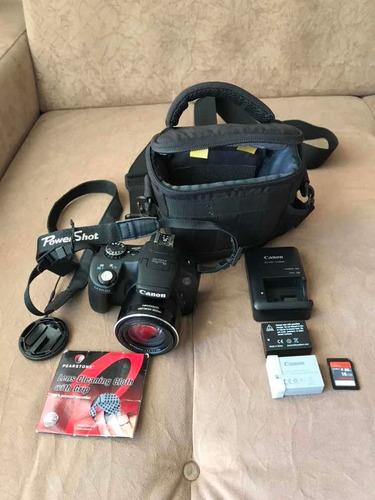Câmera Cânon Sx50 Hs + Sd 16 Gb + 2 Baterias + Bag + Flanela