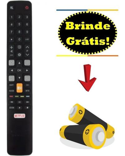 Controle Remoto Tv Tcl Smart 4k Com Tecla Globo Play-netflix