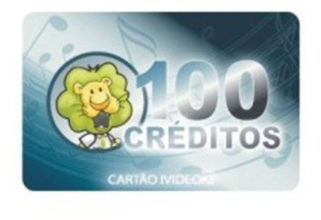 Cartão Pré-pago 100créditos P/ Ivideokê