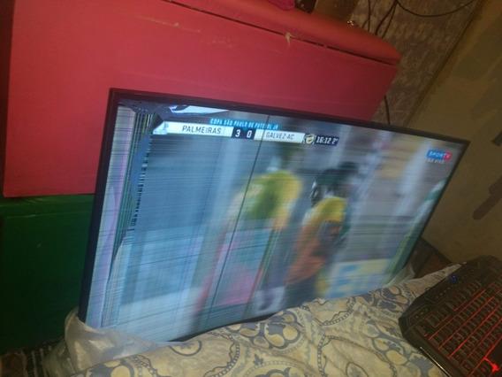Tv Samsung 55 Polegadas Curvada Com Tela Quebrada.