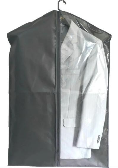 Capa Protetora P/ Ternos E Roupas Em Geral Kit Com 10 Unid