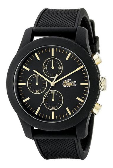 Reloj Lacoste Silicón Color Negro Cronógrafo Hombre 2010826