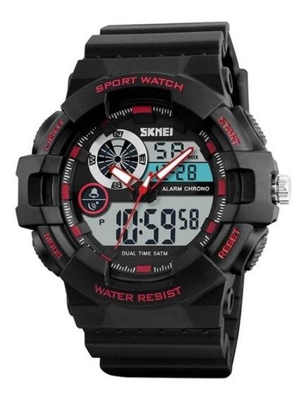 Relógio Masculino Skmei Anadigital 1312 Vermelho