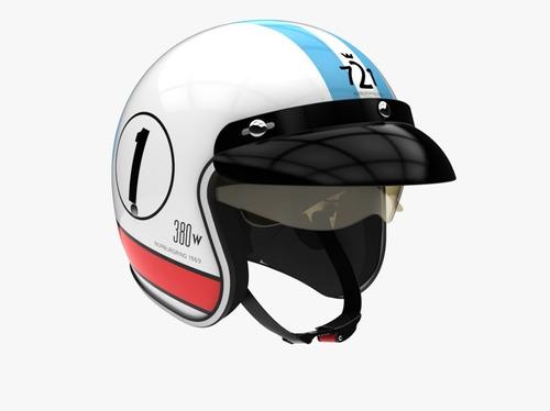 Casco Moto Abierto Retro Hawk 721 Torino 380w Solomototeam