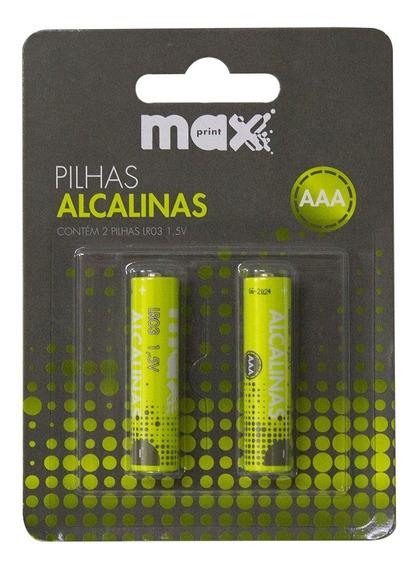 Pilha Alcalina Aaa Maxprint 756358 - Verde