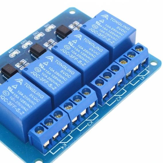 Relé Modulo 4 Canais 5v Shield Arduino