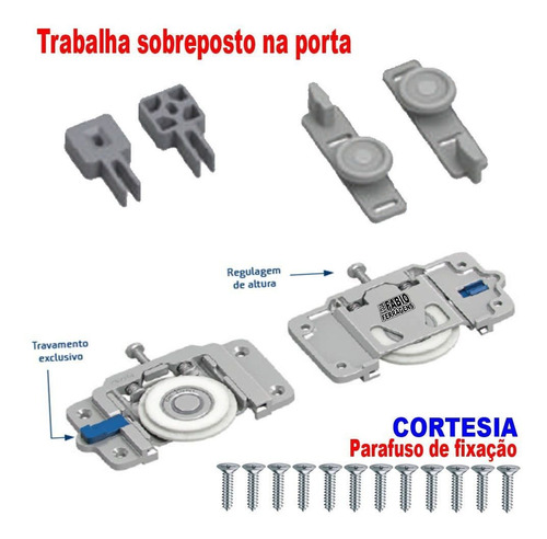Imagem 1 de 4 de Sistema De Roldana Porta Correr Guarda Roupa Tipo Ro 65