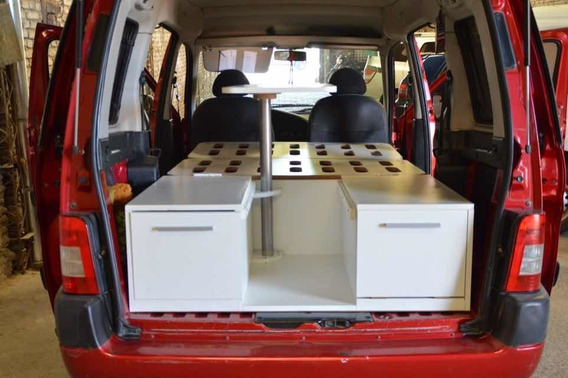Mini Camper Box Para Fiorino Kangoo Multispace Patagonica