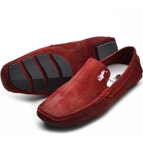 Sapato Masculino Mocassim/ Polo Couro Legítimo